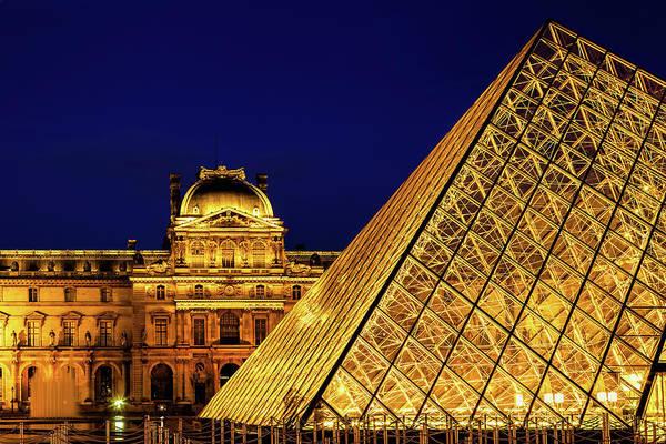 Wall Art - Photograph - Louvre Illuminated by Andrew Soundarajan