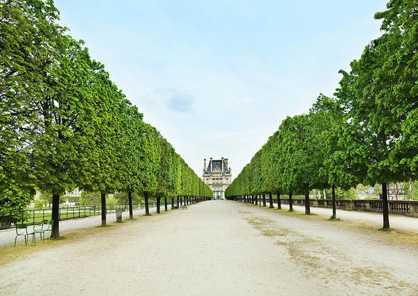 Horizontal Landscape Photograph - Louvre In  Paris by Nikada