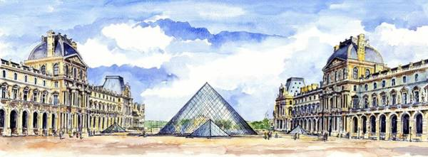 Wall Art - Painting - Louvre Museum by ArtMarketJapan