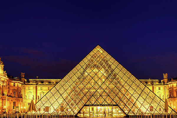 Wall Art - Photograph - Louvre Pyramid by Andrew Soundarajan