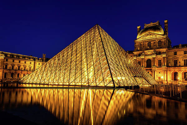Wall Art - Photograph - Louvre Reflections by Andrew Soundarajan