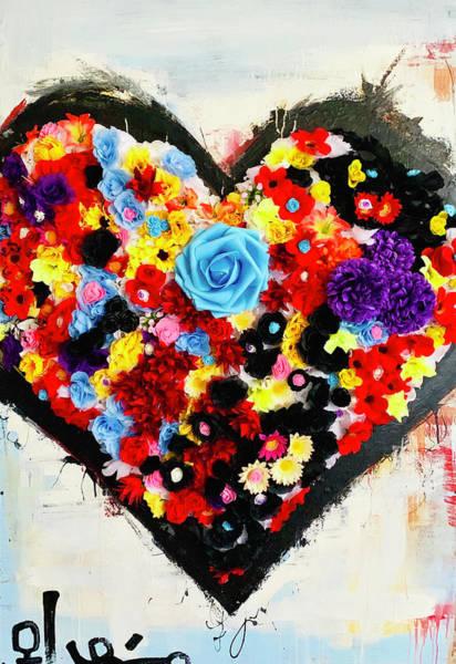 Wall Art - Mixed Media - Love Abusive by Voodo Fe'