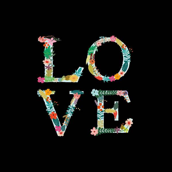 Love Digital Art - L.o.v.e by Amanda Lakey