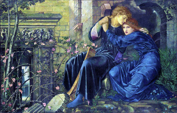 Wall Art - Painting - Love Among The Ruins - Digital Remastered Edition by Edward Burne-Jones