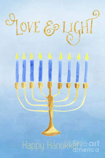Photograph - Love And Light For Hanukkah by Anita Pollak