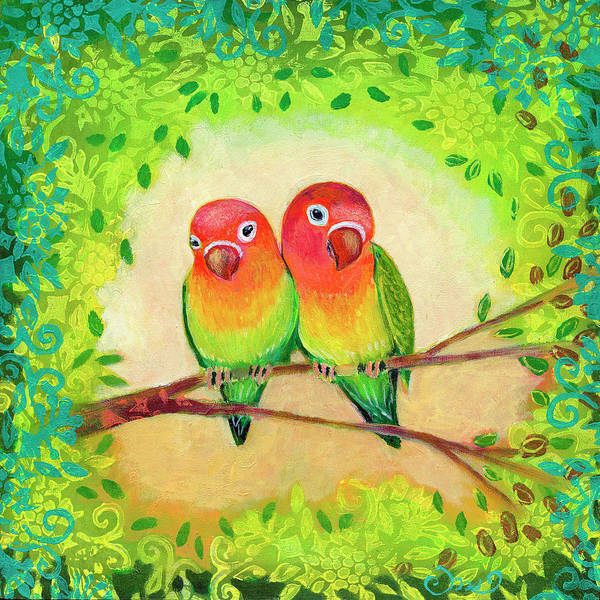 Wall Art - Painting - Love Birds by Jennifer Lommers