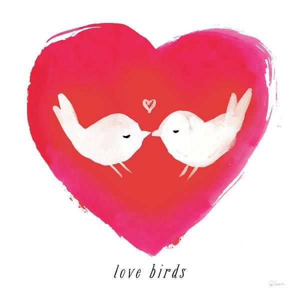 Lovebirds Painting - Love Birds by Sue Schlabach
