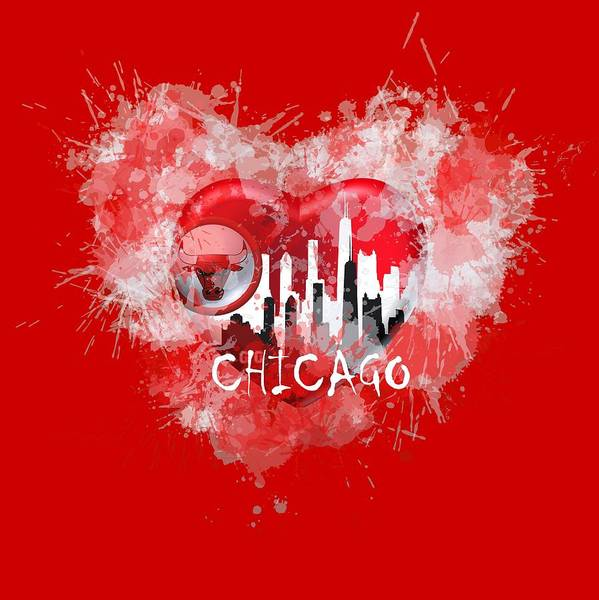 Digital Art - Love Chicago Colors by Alberto RuiZ