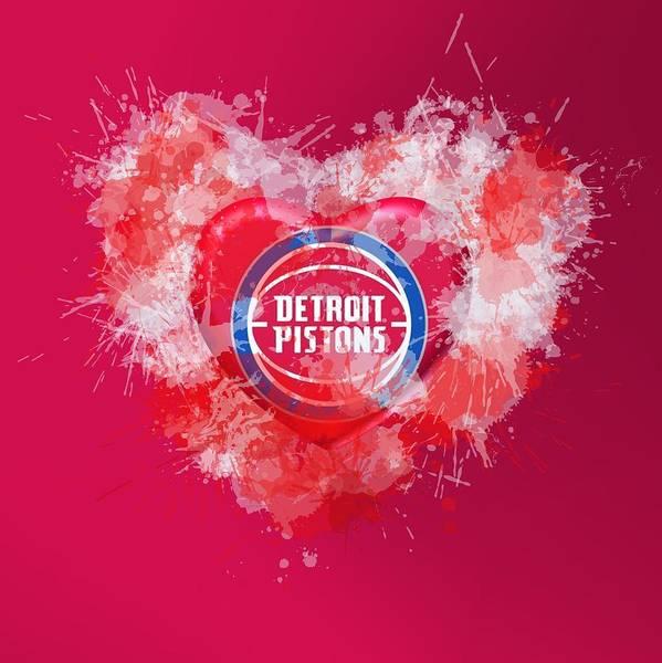 Digital Art - Love Detroit Pistons by Alberto RuiZ