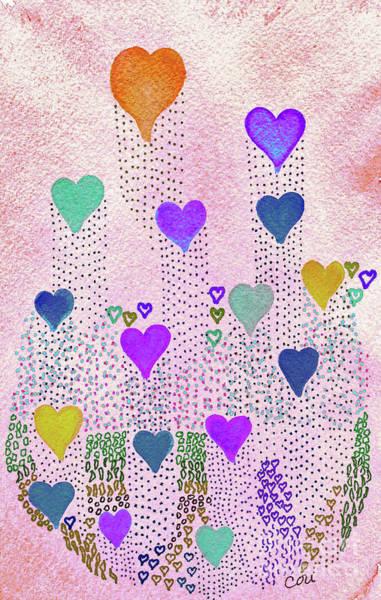 Digital Art - Love Garden 2 by Corinne Carroll