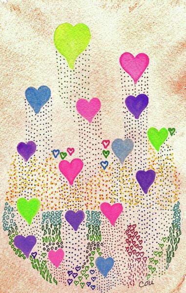 Digital Art - Love Garden by Corinne Carroll
