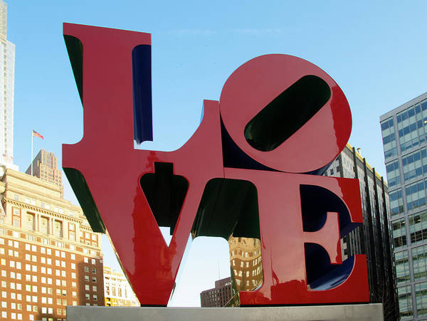 Wall Art - Photograph - Love In Center City by Bill Cannon