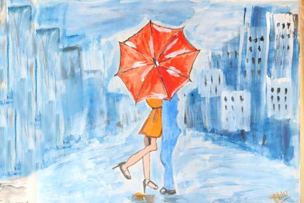 Wall Art - Painting - Love In Rain by Nick Photography