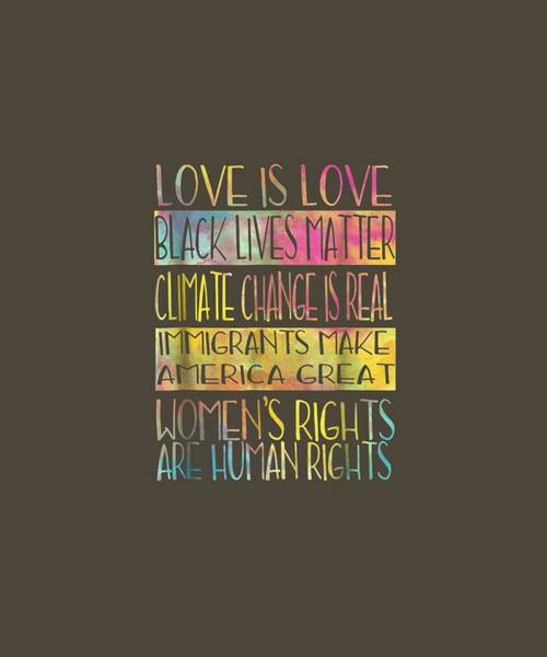 Wall Art - Digital Art - Love Is Love Black Lives Matter Equality Feminist Shirt by Unique Tees