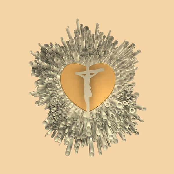 Digital Art - Love Jesus by Alberto RuiZ