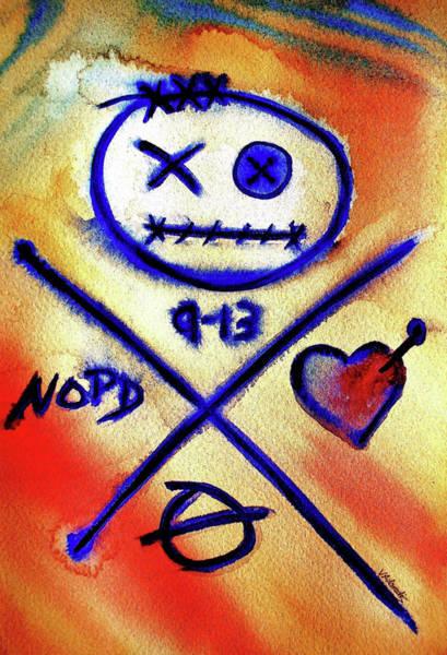 Voodoo Doll Painting - Love, Kat by Vonda Adomatis
