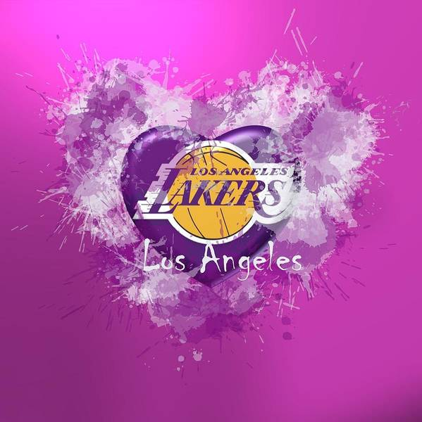 Digital Art - Love Lakers by Alberto RuiZ