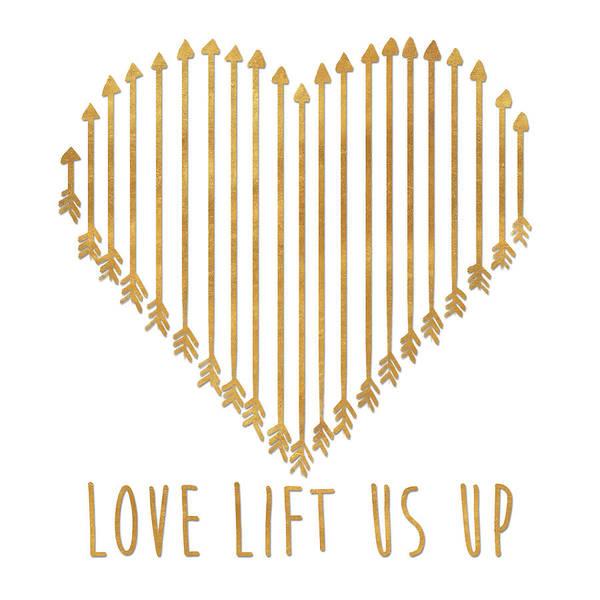 Wall Art - Digital Art - Love Lifts Us Up by Sd Graphics Studio