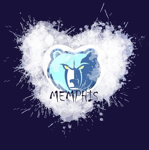 Memphis Grizzlies Wall Art - Digital Art - Love Memphis by Alberto RuiZ