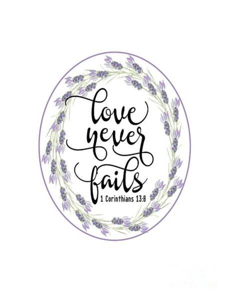 Digital Art - Love Never Fails' by Judy Hall-Folde