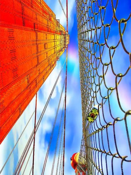 Wall Art - Photograph - Love On The Golden Gate by Christina Ford