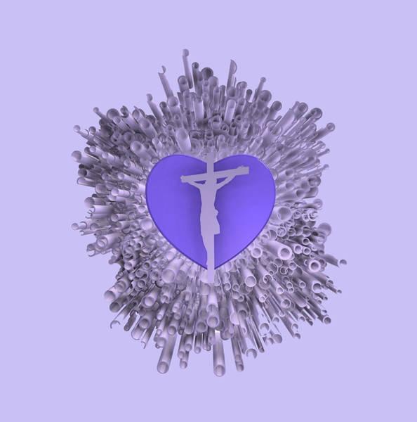 Digital Art - Love Over Violet Explosion by Alberto RuiZ