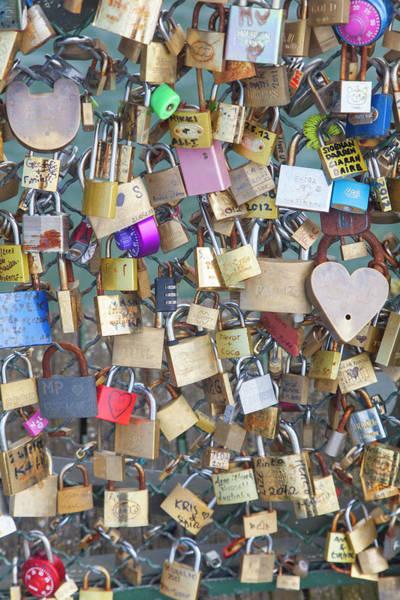 Love Photograph - Love Padlocks, Paris by Karl Blackwell