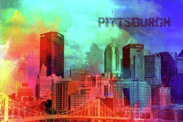 Wall Art - Digital Art - Love Pittsburgh by Terry Davis