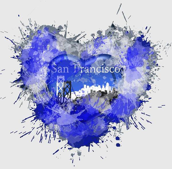 Digital Art - Love San Francisco by Alberto RuiZ