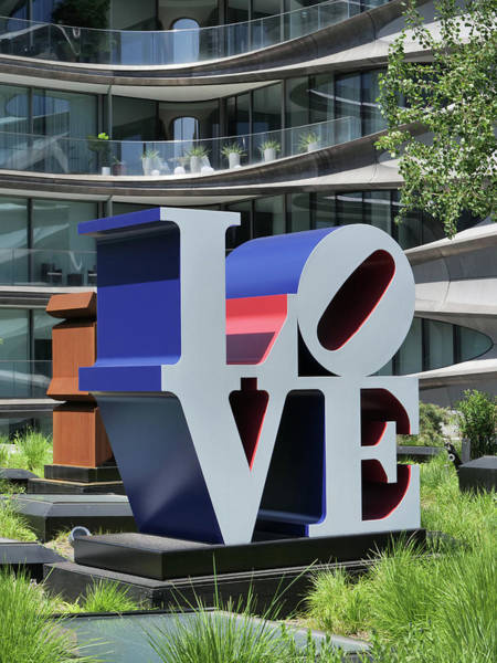 Wall Art - Photograph - Love Sculpture - The High Line by Allen Beatty