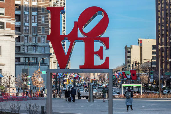 Wall Art - Photograph - Love Statue In Philly by Bill Cannon