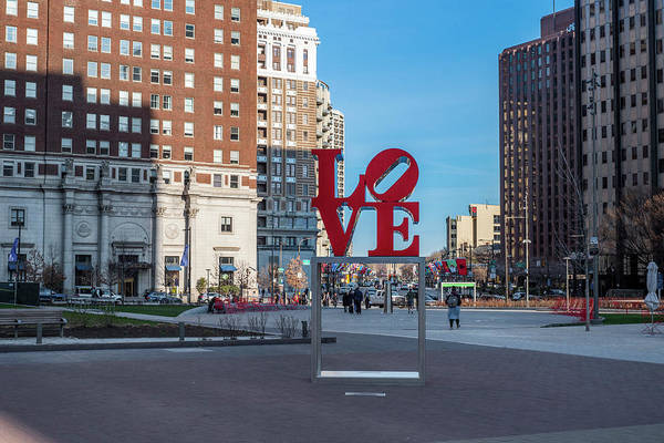 Wall Art - Photograph - Love Statue - Philly by Bill Cannon