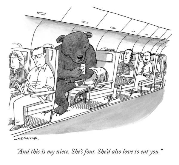 Plane Drawing - Love To Eat You by Joe Dator