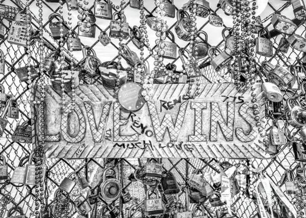 Wall Art - Photograph - Love Wins Bw by Kathleen K Parker