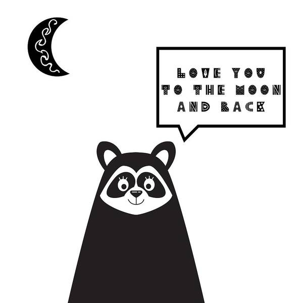 Wall Art - Painting - Love You To The Moon And Back Minimalist Poster by Celestial Images
