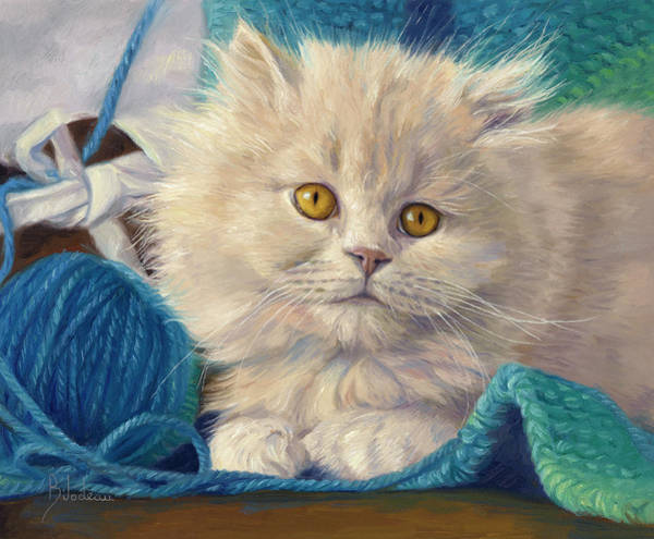 Kitten Wall Art - Painting - Loveable by Lucie Bilodeau