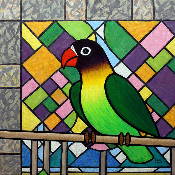 Lovebirds Painting - Lovebird by Bruce Bodden