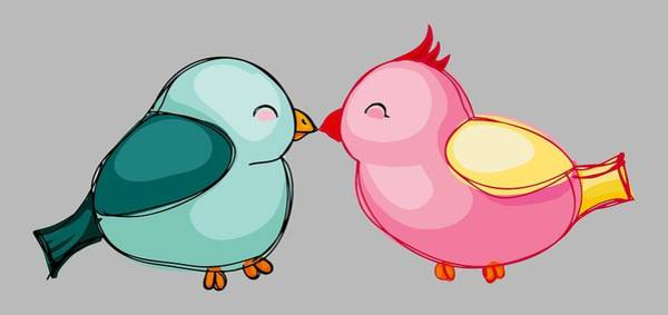 Digital Art - Lovebirds - Digital Art by Ericamaxine Price