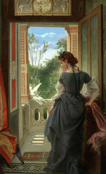 Lovebird Painting - Lovebirds by Joseph Felon