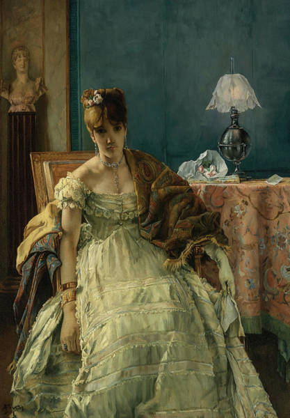 Wall Art - Painting - Lovelorn, 19th Century by Alfred Stevens