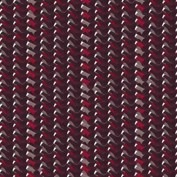 Crochet Digital Art - Lovely Dark Red Pattern by Amir Faysal