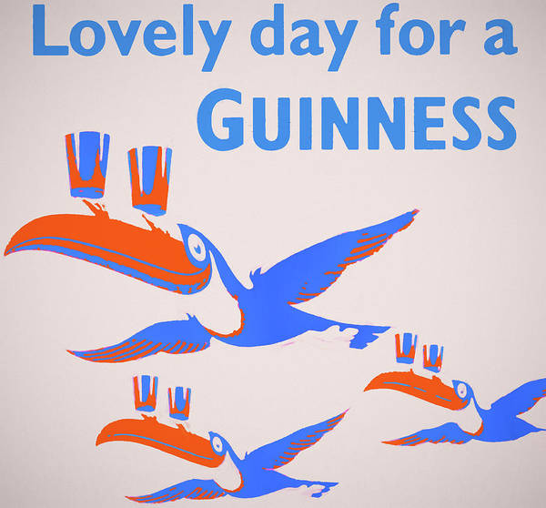 Wall Art - Mixed Media - Lovely Day For Guinness by Dan Sproul