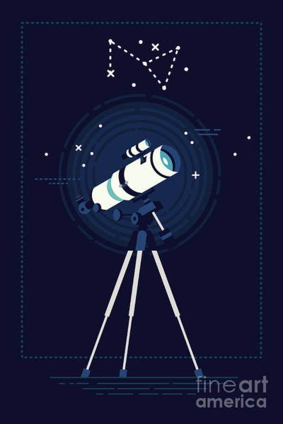Lovely Vector Background On Astronomy Art Print