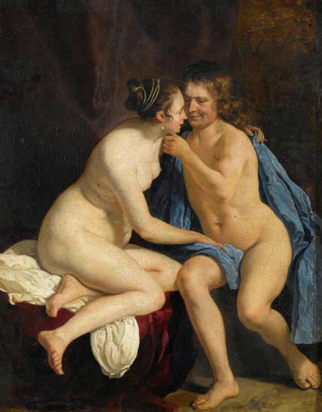 Wall Art - Painting - Lovers, 1660 by Jacob van Loo