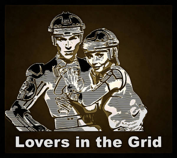Digital Art - Lovers In The Grid by Mario Carini