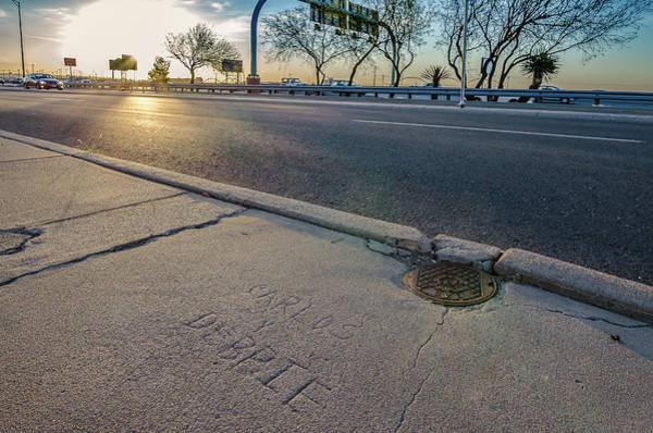 Downtown El Paso Photograph - Lover's Lane by Ken Blystone