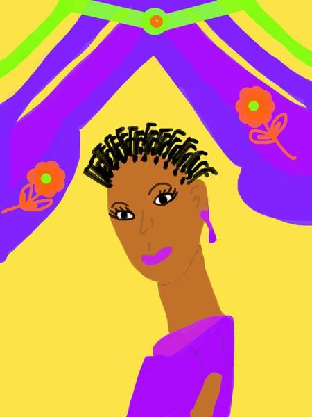 Wall Art - Digital Art - Loving Sister by Joan Ellen Gandy of The Art of Gandy