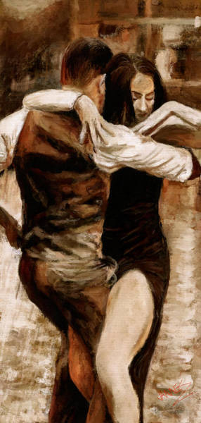 Sultry Digital Art - Loving Tango by James Shepherd
