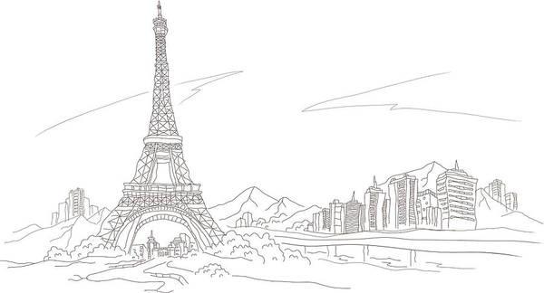 Vector Digital Art - Low Angle View Of A Tower, Eiffel by Eastnine Inc.