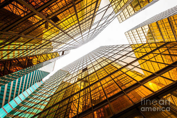 Wall Art - Photograph - Low Angle View Of Modern Skyscraper by Zhu Difeng
